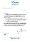Invitation letter of United Nations Economic Commission for Europe